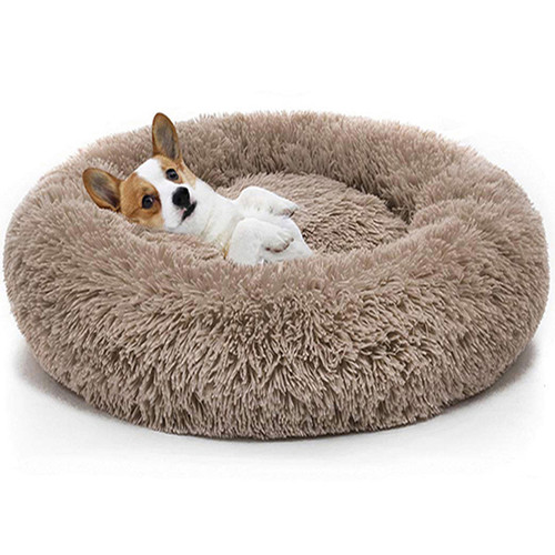 Pet Dog Bed For Large Big Small Cat House Round Plush Mat Sofa