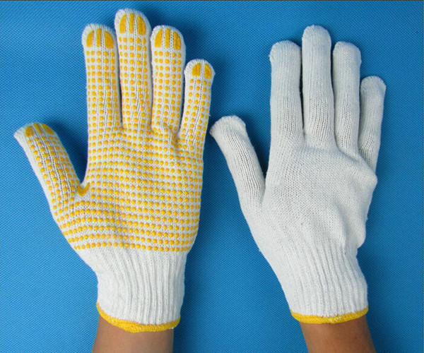 Yellow dots Gloves