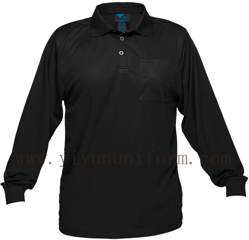 Black Cotton Polo Shirt YY6000