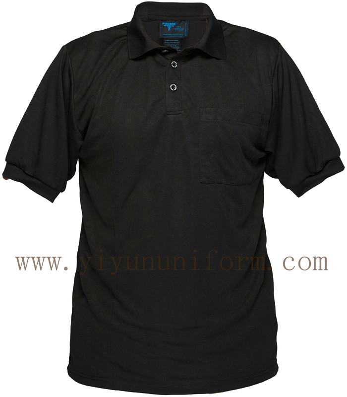 Black Cotton Polo Shirt YY6001