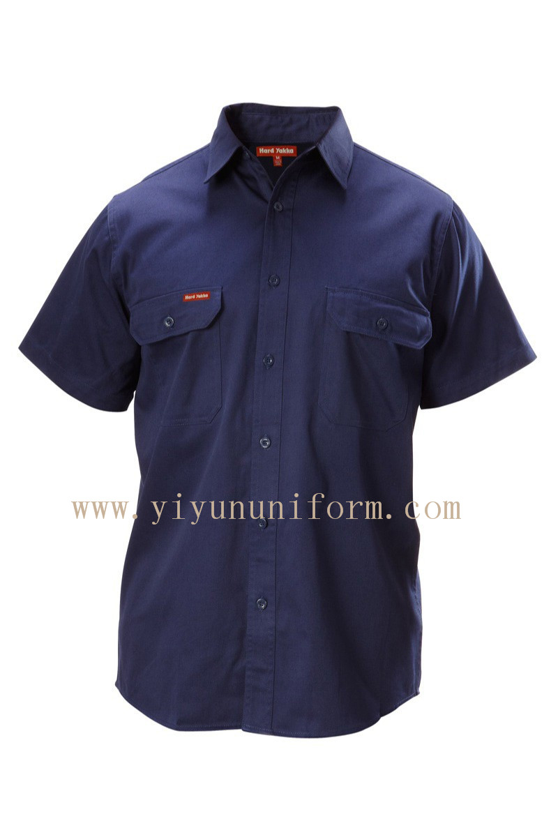 COTTON DRILL SHIRT SHORT SLEEVE YY8019